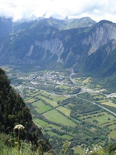 Borg d'Oisans vanaf halverwege de Alpe d'Huez