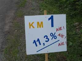 5 km voor de finish
