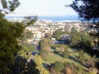 Uitzicht richting Cannes